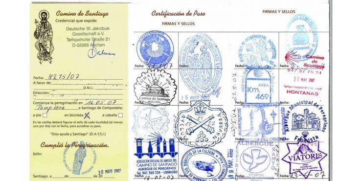 Credencial del peregrino del Camino de Santiago