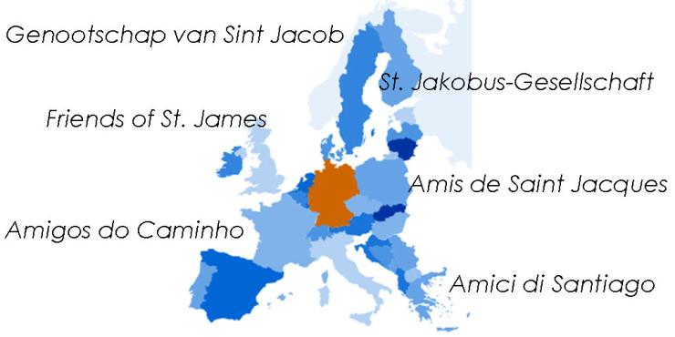 Asociaciones de Amigos del Camino de Santiago en Alemania