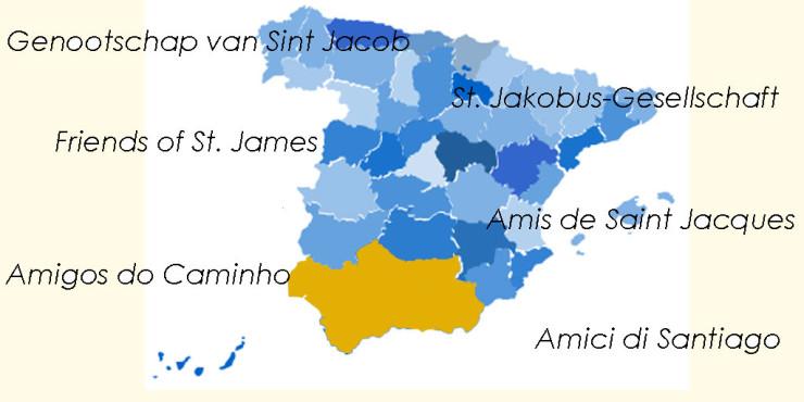 Asociaciones de Amigos del Camino de Santiago en Andalucía