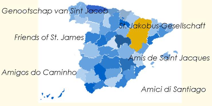 Asociaciones de Amigos del Camino de Santiago en Aragón