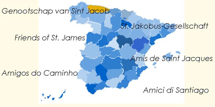 Asociaciones de Amigos del Camino de Santiago en Asturias