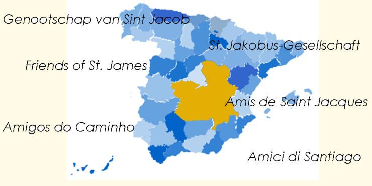 Asociaciones de Amigos del Camino de Santiago en Castilla la Mancha