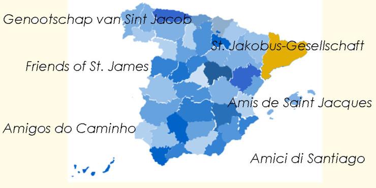 Asociaciones de Amigos del Camino de Santiago en Cataluña