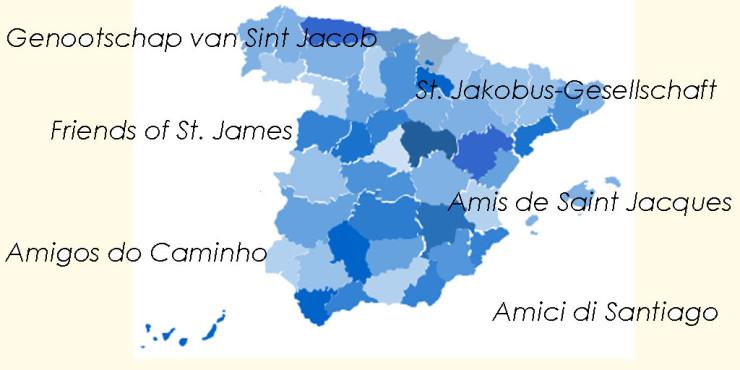Asociaciones de Amigos del Camino de Santiago en España