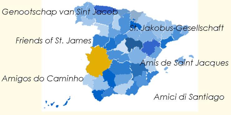 Asociaciones de Amigos del Camino de Santiago en Extremadura
