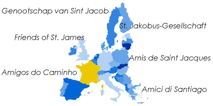 Asociaciones de Amigos del Camino de Santiago en Francia
