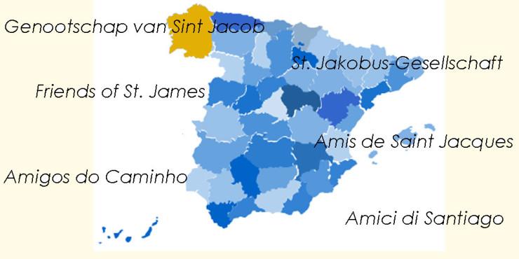 Asociaciones de Amigos del Camino de Santiago en Galicia