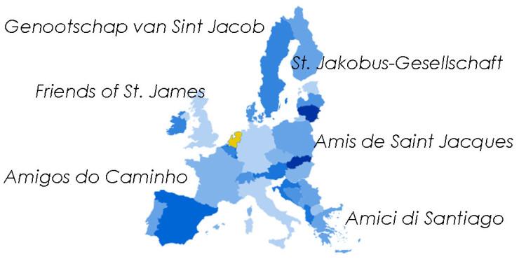 Asociaciones de Amigos del Camino de Santiago en Holanda