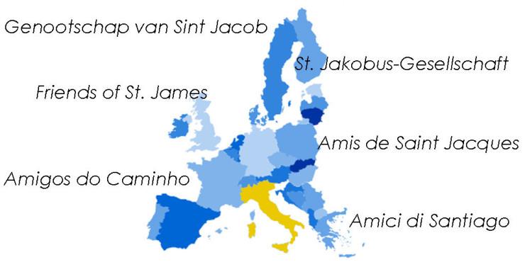 Asociaciones de Amigos del Camino de Santiago en Italia