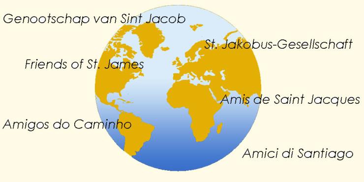 Asociaciones de Amigos del Camino de Santiago. Otros países.