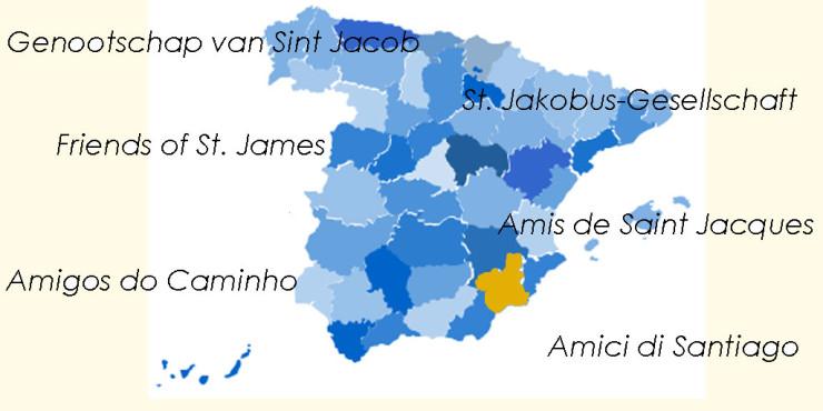 Asociaciones de Amigos del Camino de Santiago en Murcia