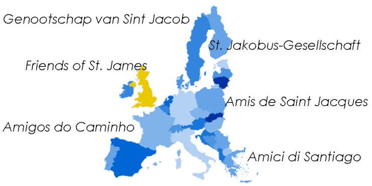 Asociaciones de Amigos del Camino de Santiago en Reino Unido