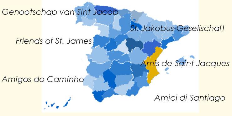 Asociaciones de Amigos del Camino de Santiago en la Comunidad Valenciana
