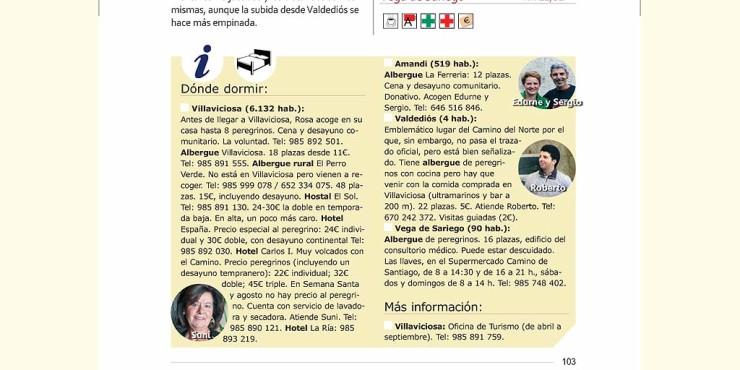 Guía del Camino del Norte 2016. Novedades.