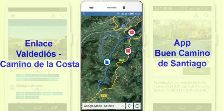 Enlace Valdediós - Camino del Norte / Camino de la Costa
