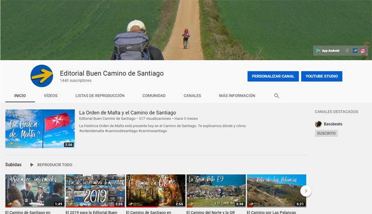 Canal de Youtube del Camino de Santiago